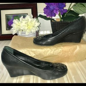 Tory Burch Black Wedge Shoe